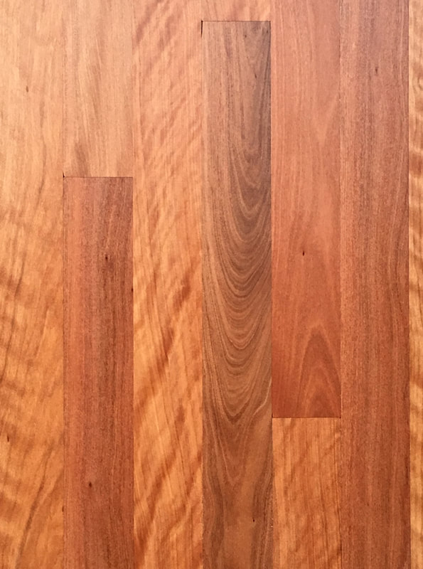 Brush Box flooring has warm honey colors and eye-catching grain. ©.